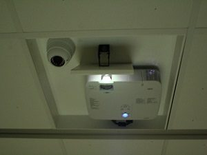 interactive floor ceiling mounted projector