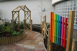 Sensory Trail packed with sensory garden features along route
