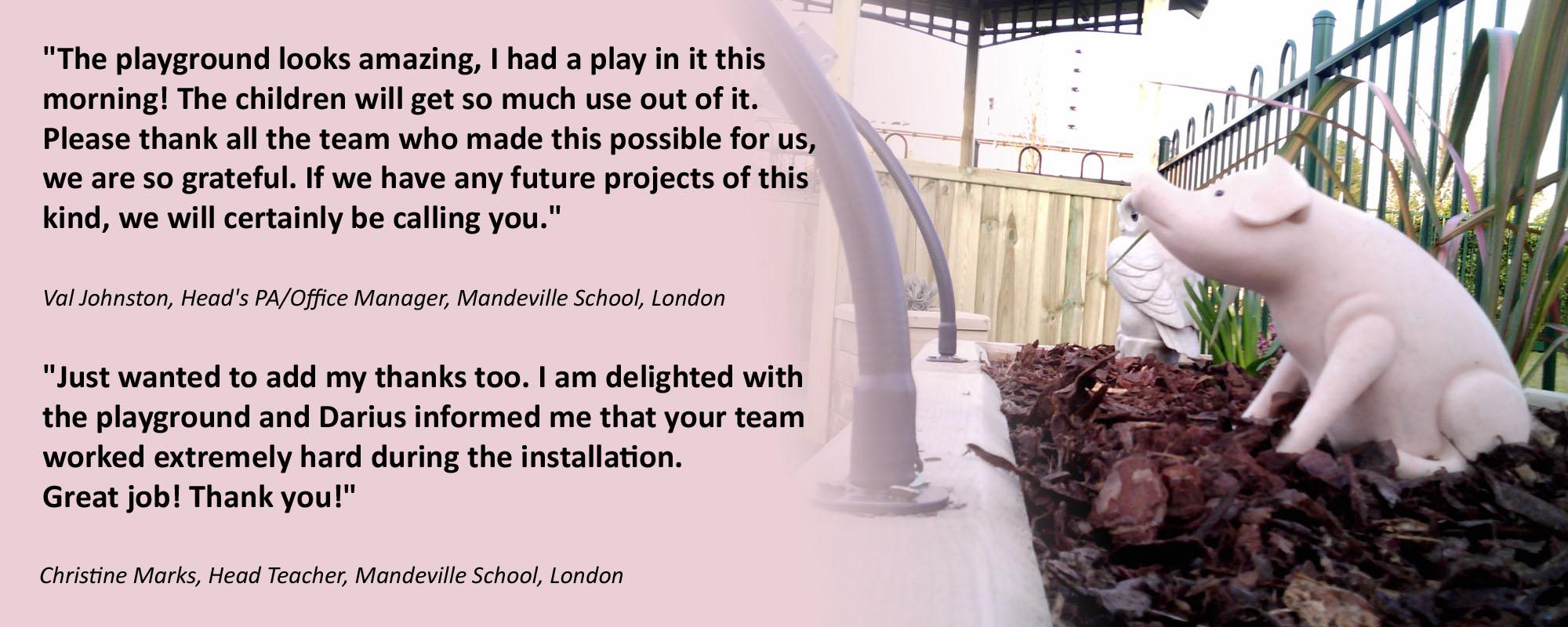 Interactive Sensory Garden for Mandeville School in London
