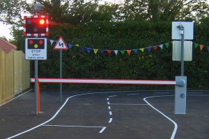 Sensory Street with working level crossing