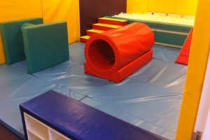 softplay room with roller tunnel and ballpool