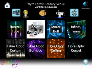 ipad controlled sensory room