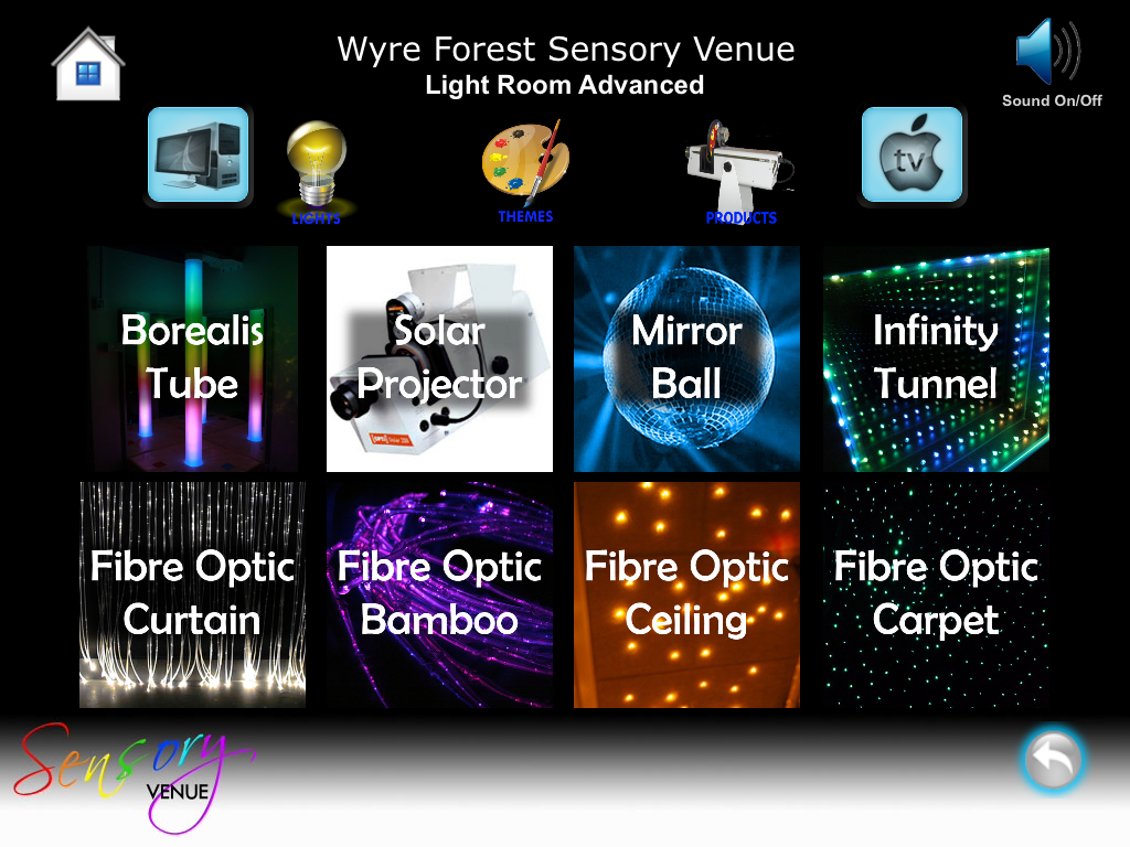 App Controlled Sensory Rooms