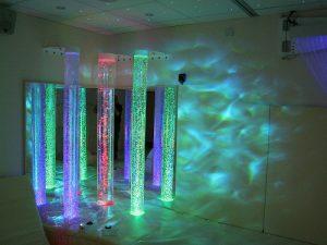 Bubble Tube Corner in a Calming Sensory Room