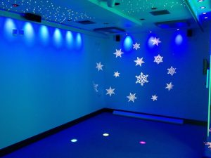 Sensory Room with Colour Wash Lighting and Multi Beam Lighting Effect