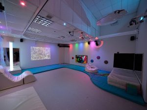 Sensory Room with Rainbow Downlights