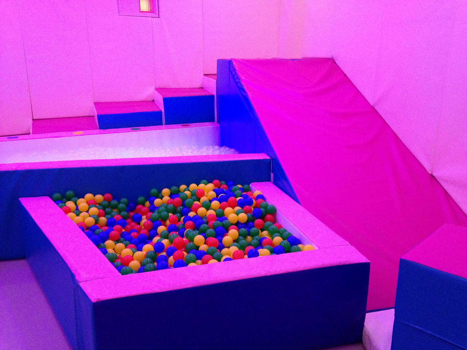 Sensory Softplay Area with Ball Pool, Steps and Slide
