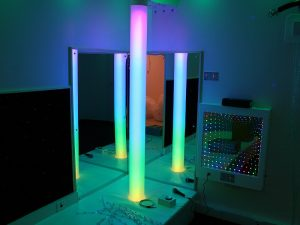 Small Sensory Room Corner with Borealis and Infinity Panel with Microphone for Vocalisation