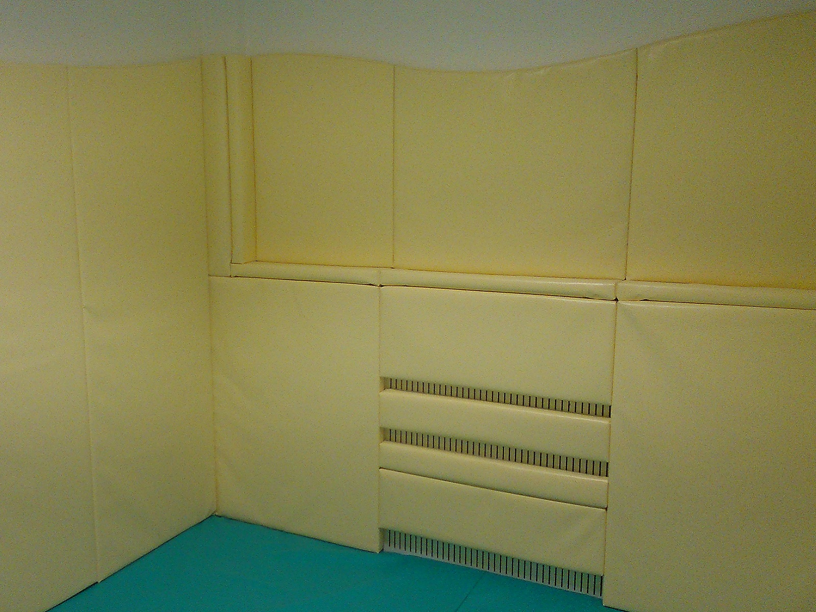 Wall And Floor Padding For Chill Out Room With Radiator Protection