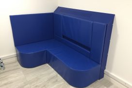 Padded Seating Bench and Padded Back Rest with Incorporated Radiator Boxing