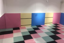 Image Absorbing Floor Tiles and Wall Padding