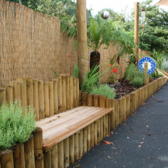 Custom Benches in Sensory Garden