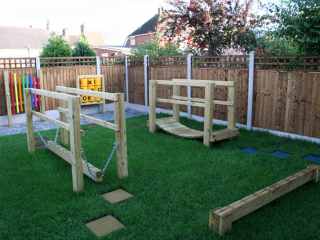 Sensory gardens can also include activities