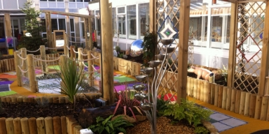 A colourful sensory garden